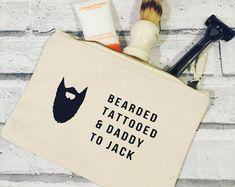 Bearded tattooed and daddy canvas wash bag. ead79fd1c906a