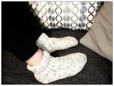 Chaussons en tricot cosy pour belle-soeur frileuse !