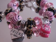 Friends are Blessings. :) This is a beautiful Friend Charm Bracelet / European Bracele from Infinity Love on The CraftStar. #thecraftstar #infinitylove #jewelry #friends #bff #bracelet