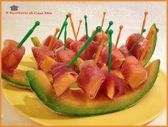 Stuzzichini di Prosciutto Crudo e Melone