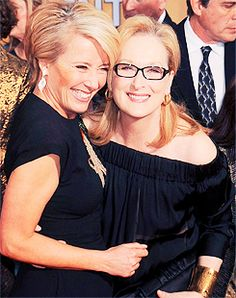 With Emma Thompson at the SAG Awards ~ 2014