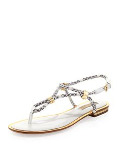 Michael Kors Collection Hartley Braided Flat Sandal, $375