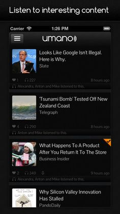 Umano - Free app that has real people reading news articles to you!!