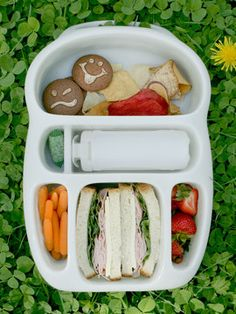 Goodbyn lunchbox. I love it! Great for kiddies and adults, too!