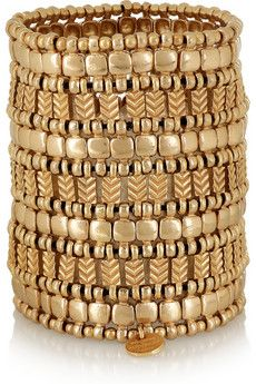 Philippe Audibert - Watson gold-plated cuff