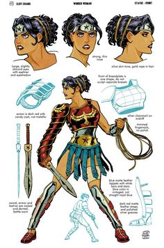 New Wonder Woman: Art of War Statues - designs by Cliff Chiang and Tony Daniel - She looks more appropriately suited for battle! Wonder Woman Kunst, Wonder Woman Art, Wonder Women, Wonder Woman Outfit, Comic Book Characters, Comic Character, Comic Books Art, Fantasy Characters, Book Art