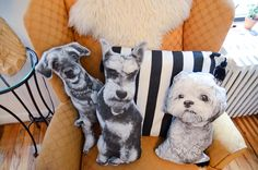 See how to make a pillow version of your dog so you can always give them a little hug-- even when they're not around! ;)