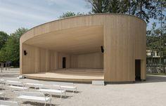Neubau Musikpavillon Bad Ischl: Blickfang und Treffpunkt für alle Besucher im Rahmen der Landesgartenschau 2015