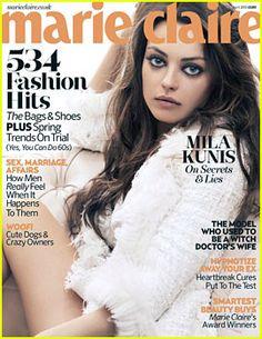 Mila Kunis Covers 'Marie Claire UK' April 2013