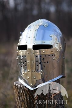 Available in: stainless steel 16 ga mm, stainless steel 14 ga 2 mm, stainless steel 12 ga mm, mirror polishing, satin polishing :: by medieval store ArmStreet Medieval World, Medieval Knight, Medieval Armor, History Medieval, Crusader Helmet, Skates For Sale, Martial, Medieval Helmets, Knights Helmet