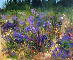 Lavender and Wildflowers diane ainsworth oil