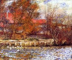 Auguste Renoir-The Duck Pond 1873 | Oil on canvas | 508 x 622 mm Private collection Renoir, Pierre-Auguste | 1841-1919