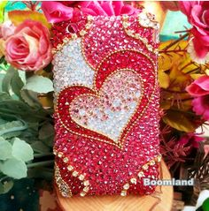 Bling Bling Heart iPhone Cases iPhone 4 case by iPhoneCasesStyle, $18.65