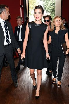 Charlotte at the fashion show of Gucci - September 17, 2014 - Milan