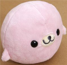 cute Mamegoma pink seal plush toy by San-X - Plush Toys - Stationery - kawaii shop modeS4u