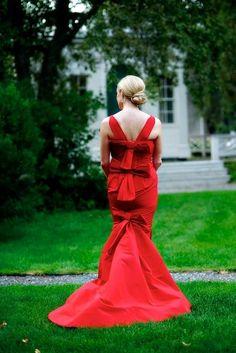 red wedding dress!!