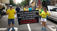 BELÉM (PA): Cartazes contra a corrupção pedem impeachment e apoiam o juiz Sérgio Moro