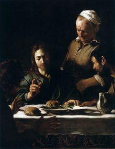 Supper at Emmaus (detail), Caravaggio, 1606