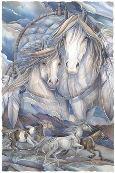 Bergsma Gallery Press :: Paintings :: Nature :: Horses :: The Dream Creates The Journey - Prints