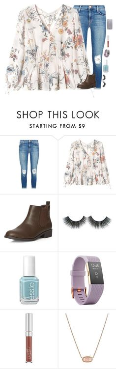 """No valentines 😕 but I think my crush likes me back!!"" by kennamber on Polyvore featuring J Brand, Rebecca Taylor, Dorothy Perkins, Essie, Fitbit, ColourPop, Kendra Scott and Kate Spade"