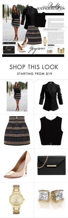 """""""Get the look"""" by danigrll ❤ liked on Polyvore featuring Zara, Charles David, MICHAEL Michael Kors, Kate Spade and Blue Nile"""