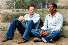 """Morgan Freeman and Tim Robbins in the 1994 film """"The Shawshank Redemption"""" Films Stephen King, Die Verurteilten, Films On Netflix, Taylor Swift Youtube, Tim Robbins, Kings Movie, The Shawshank Redemption, Top Film, Movie Shots"""
