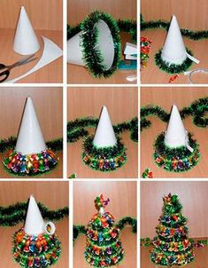 57 simple and practical manual diy tutorial page 44 of 57 ideas diy christmas gifts ideas candy canes for 2019 diy gifts Diy Christmas Videos, Noel Christmas, Diy Christmas Ornaments, Diy Christmas Gifts, Christmas Projects, Simple Christmas, Christmas Decorations, Candy Christmas Trees, Christmas Tree Costume