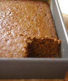 Molasses cake - one bowl - just made it using blackstrap molasses - easy and turned out super moist - almost like gingerbread - will add cream cheese frosting next time! Molasses Bread, Gingerbread Cake, Saveur, Spice Cake Mix Recipes, Cake Recipes, Dessert Recipes, Icing Recipes, Baking Desserts, Brownie Recipes