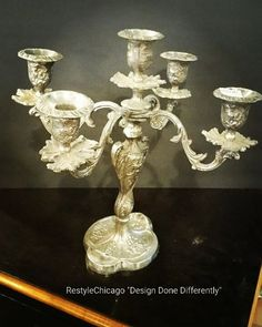 Beautiful antique candelabra #restylechicago #reluxvintage #antique https://www.instagram.com/p/BP3IgqoBS1r/