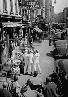 """U.S. Filming """"On the Town"""" with Gene Kelly and Frank Sinatra, New York 1949 // Photo: Anonymous"""