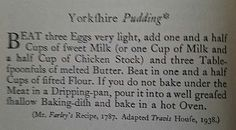 Make Up & The Tomboy: Recipe of the day ~ Yorkshire Pudding