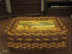 Мастер-класс Плетение Плетение квадратной прямоугольной коробки Бумага газетная Трубочки бумажные фото 40