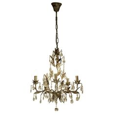 TAUPE CHANDELIER WITH DROPS MEDIUM