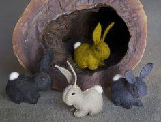 wool felt bunny rabbits