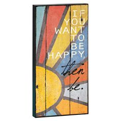 Create a lovely focal point in your living room or foyer with this charming wall decor, showcasing a multicolor sun and typographic accent.