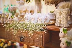 Gypsophila from a Little Lamb Baby Shower via Kara's Party Ideas | KarasPartyIdeas.com (14)