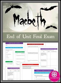 001 Macbeth Questions in a Task Card Pack Fun classroom