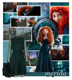 """""""Merida // BRAVE"""" by evil-laugh ❤ liked on Polyvore featuring Merida, Peking Handicraft, Yumi and Laurence Dacade"""