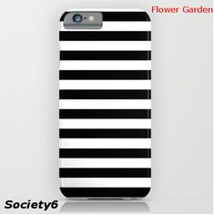 【Society6】  モノクロ ストライプ iPhoneケース