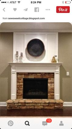 Flush fireplace