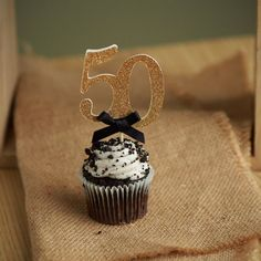 Birthday Party Ideas - ships in business days - Number Cupcake Toppers - Set of 12 50th Birthday Cupcakes, Moms 50th Birthday, 50th Birthday Party, Mom Birthday Gift, Birthday Party Decorations, Birthday Wishes, Graduation Centerpiece, 50th Wedding Anniversary, Anniversary Parties