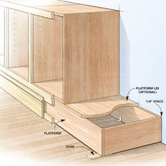 Shortcuts for Custom Cabinets and Built-Ins - from The Family Handyman DIY built ins such as built-in cabinets, bookcases, and shelving are faster, easier and better with these tips from a veteran cabinetmaker. Diy Kitchen Cabinets, Built In Cabinets, Custom Cabinets, Storage Cabinets, Base Cabinets, Plywood Cabinets, How To Build Cabinets, Kitchen Remodeling, Cupboards