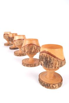 Vintage egg cups Wood Turning Lathe, Wood Turning Projects, Wood Lathe, Modern Candle Holders, Wood Candle Holders, Woodworking Epoxy Resin, Woodworking Apron, Youtube Woodworking, Woodworking Patterns