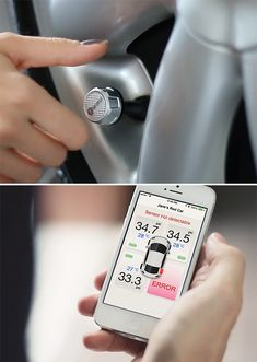 FOBO Tire Monitors Tire Pressure and connects to your phone. Taking the guessing out of safety.