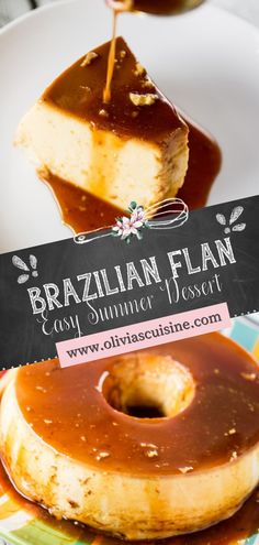 Brazilian Flan is a classic Brazilian dessert made with simple, inexpensive ingredients and pantry staples! Decadently creamy with an easy caramel sauce, this is the best Brazilian Flan recipe! This easy dessert recipe is perfect for summer! Add this cold dessert recipe to your table this July 4th! #flan #dessert