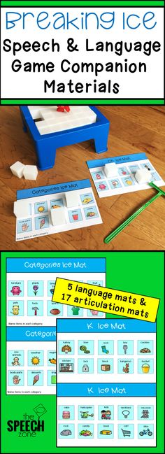 Speech and Language game companion materials that can be used with the game Don&. - - Speech and Language game companion materials that can be used with the game Don& Break The Ice from the TpT store The Speech Zone. Preschool Speech Therapy, Speech Activities, Speech Therapy Activities, Language Activities, Shape Activities, Speech Language Therapy, Speech Language Pathology, Speech And Language, Therapy Ideas