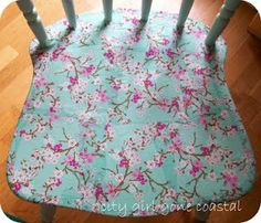 DIY - Decoupage Chair - tutorial - hmmmm just need to decide what to decoupage?!