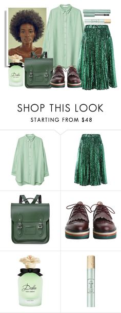 """""""Green tea"""" by apduyer ❤ liked on Polyvore featuring MANGO, N°21, The Cambridge Satchel Company, Zimmermann and Dolce&Gabbana"""