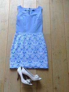 Hemelsblauwe jurk TiRo