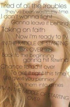 The middle of starting over- Sabrina Carpenter Thank you @karevsprincess for showing me her music :)